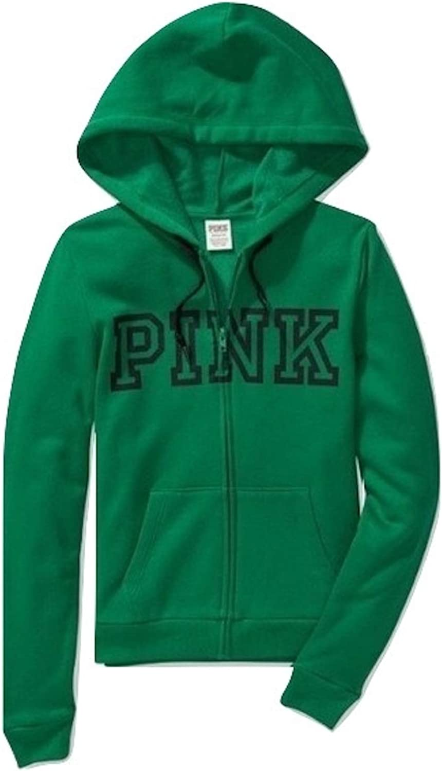 Pink Everyday Lounge Full Zip Hoodie Color Green Size X-Small NWT