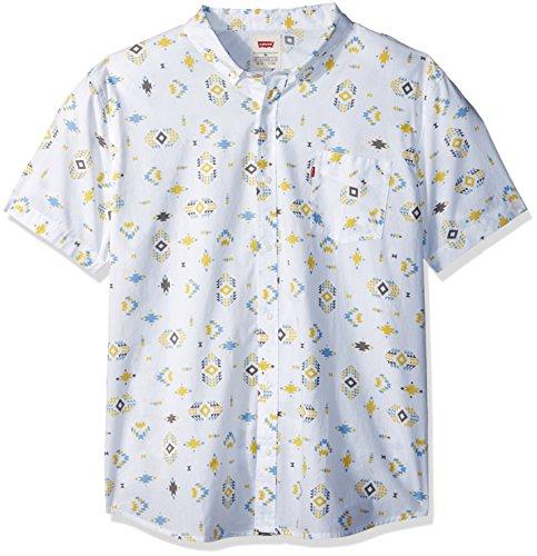 Levi's Rucc – Camiseta de Manga Corta para Hombre, Blanco Brillante, XX-Large