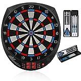 """Biange Electronic Dart Board, 15.5"""" Regulation Sized Digital Soft Tip Dartboards Set 27 Games, 243..."""