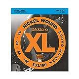D'Addario EXL160 - Juego de cuerdas para bajo eléctrico de níquel.050 - .105