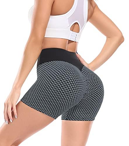 lalamelon Leggings Sportivi Donna Pantaloni Anticellulite Vita Alta Leggins Yoga Push Up Pants Fitness Opaco Abbigliamento per Palestra Allenamento