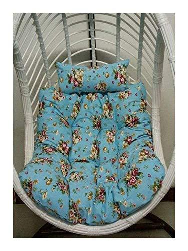 Almohadillas para cojines para sillas colgantes, cesta para colgar, cojín para asiento, columpio para hamaca, cojines para asiento, gruesos y cómodos, para chaise longue Cojín para jardín, alfombril