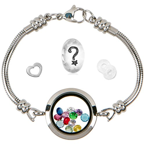 Timeline Treasures Floating Locket Charm Bracelets for Women, Fits European Bead Charms, Magnetic, 25mm, 7.5 Inch