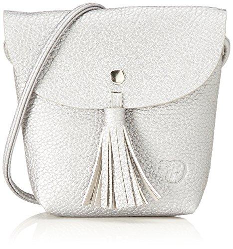 Denim TOM TAILOR bags IDA Damen Umhängetasche S, Silber, 17x4.5x16