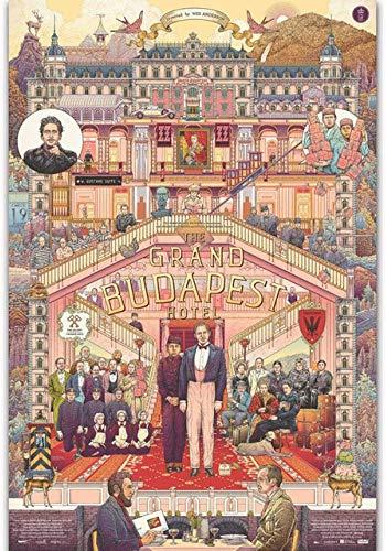TBFCHL Puzzel Puzzles, Film Holz Puzzles - Das Grand Budapest Hotel, Erwachsene Dekomprimieren Kinder Lernspielzeug Cartoon Anime Kreative Geschenke, 300-6000 Stück(Size:300P)