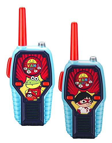 Ryans World Walkie Talkies for Kids, 2 Way Radio Long Range, Light, Sound Effects Kids Toys & Handheld Kids Walkie Talkies, Toys for Boys & Girls for Outdoor Adventure Game