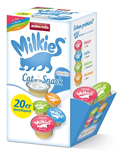 Animonda Milkies Selection, 4 varietà á 5 Capsule = 20 Capsule á 15 G