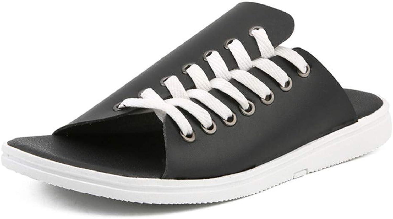 Flip-Flops Outdoor Sports Sandalssummer Slippers Personality Word Slippers Men's Beach Slip Sandals Outdoor Wear