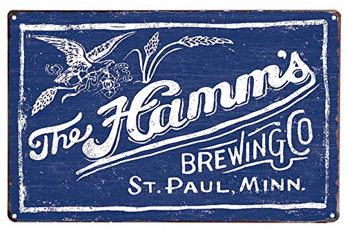 LIPTOR the Hamm's Brewing Tin Sign Vintage Style Wall Art Decor Coffee Retro Decoration for Home Bar 8X12Inch