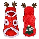 Decorazione di Natale cappotto di Natale Christmas Kitten Cat Clothes Piccolo Cani Gatti costume della Santa Cucciolo Outfit con cappuccio caldo dell'animale domestico vestiti del cane Accessori Abbig
