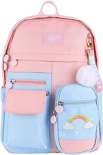 JAWSEU Ryggsäck flickor skolväskor, söt barnryggsäck flickor nylon vattentät barnryggsäck ryggsäcksväska, fritid ryggsäck ...