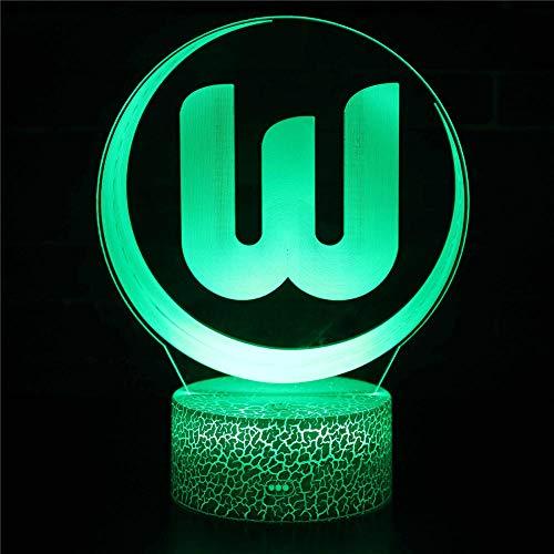 Luz de noche 3D para los niños grande W 16 colores cambiar las lámparas de control remoto de los niños lámpara como un regalo ideas