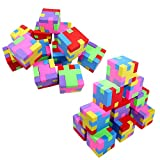 Anapoliz Geometric Puzzle Colorful Erasers for Pencils   Back to School Supplies, Party Go...