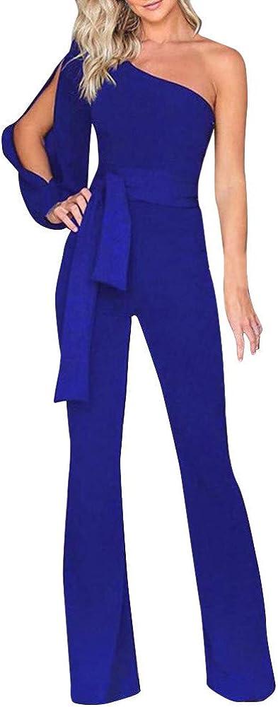 Jumpsuits Pants for Women High Waist Women Bowtie Casual Pants Elastic Waist Stripe Rompers Pant