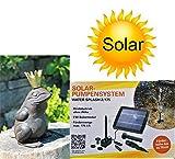 powershop11 Wasserspeier Froschkönig Guß mit Solarpumpe