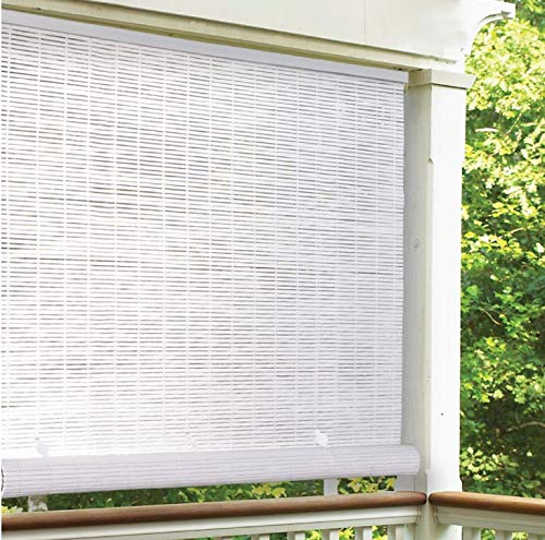 Radiance Vinyl Rollup Shade 48 in. W x 72 in. H White Cordless
