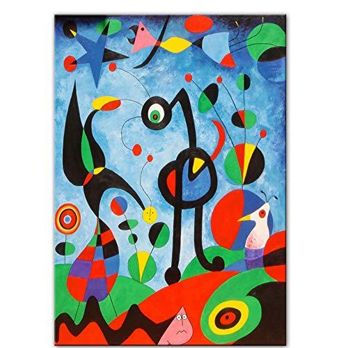 nr The Garden 1925 por Joan Miro Reproducciones de Obras de Arte Famosas Pinturas abstractas en Lienzo de Joan Miro Cuadros de la Pared Decoración de la Pared del hogar50x70cm sin Marco