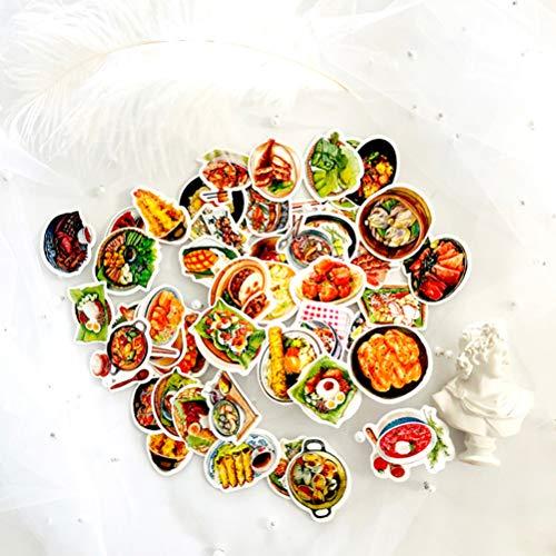 47Stks Heerlijke Voedsel Sticker Mini Decoratie DIY Dagboek Scrapbook Seal Kawaii Stationery Sticker Koffer Fiets Motorfiets