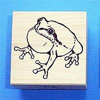 【いきものスタンプ】Vタイプ・アマガエル3(鳴き蛙)