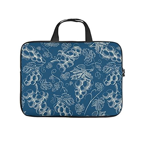 Facbalaign Frutas Portátil, Uva en cualquier lugar, maletín duradero de alta calidad, con asa, diseño de u, Blanco, 15 pulgadas,