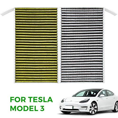 Preisvergleich Produktbild Model 3 Innenraumfilter Pollenfilter mit Aktivkohle für Model 3,  2 Stück