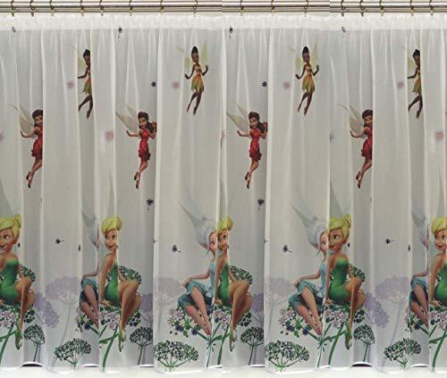 Polontex Gardinen mit universalband Tinkerbell Fairy 75cmB x 150cmL Kinderzimmer Vorhang Disney EISONIGIN
