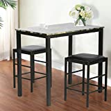 FDW Dining Table Set Kitchen Table and Chairs Dining Table for 4 Dining Room Table Set for Small Spaces Home Furniture Rectangular Modern