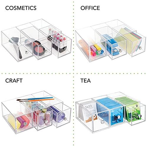 mDesign Küchen Organizer mit 3 Schubladen – ideal als Teebox zum Sortieren der verschiedenen...