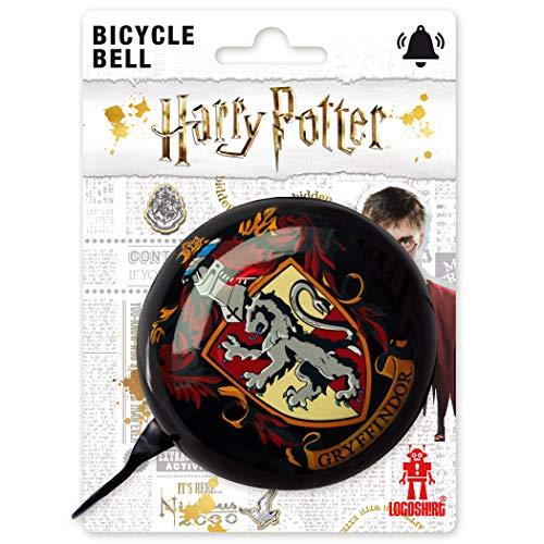 Logoshirt - Harry Potter - Gryffindor - Retro Fahrradklingel Groß - aus massivem Stahl - Schwarz - Lizenziertes Original Design