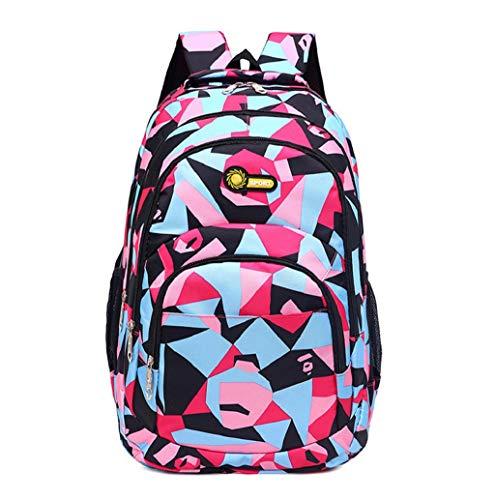 Hot!! Schulranzen,Klassische Unisex Schulrucksack,Mode Oxford Freizeit Multi-Pocket-Rucksack antidiebstahl Sporttaschen Rucksäcke Teenager Backpack School Bag für Schüler TWBB