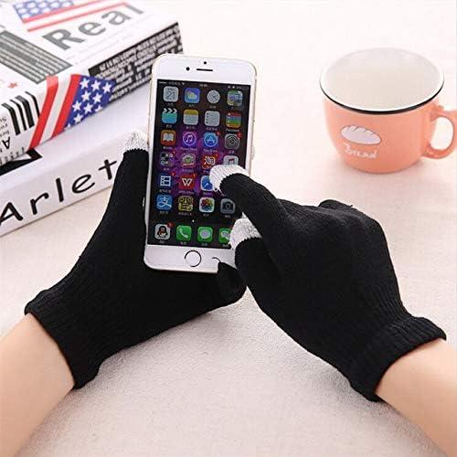 Fashion Winter Gloves Women Men Touching Screen Winter Gloves Mittens Knitting Outdoor Sport Warm Gloves Boys Girls - (Color: Balck)