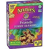 Annie's Organic Whole Grain Chocolate Chip Bunny Grahams Snacks 11.25 Oz
