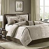 Madison Park Cozy Comforter Set Casual Blocks Design All Season, Matching Bed...