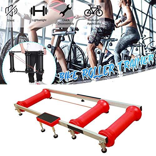 LJLYL Intérieur Entraîneur de vélos, Cadre Roller Vélo Portable Stand, Exercice d'entraînement vélo réglable pour VTT Route Exercice,Rouge