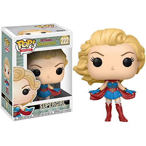 Funko Pop Heroes - Bombshells Supergirl Collectible Figure #222 Derivatives ,Multicolor for Boy