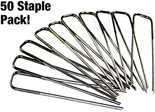 VViViD Stainless Steel Heavy-Duty Landscape Staples for Artificial Grass Turf Mat and Landscaping Sheets (50)