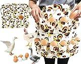 TIMSOPHIA Grembiule per uova da collezione, con 12 tasche per le uova, per il pollo, il gallo, la anatra, il gans giallo. L-12 borsa