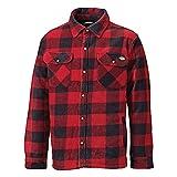 Dickies - Camisa/Chaqueta de leñador de manga larga acolchada Modelo Portland - Invierno/Frio/Montaña (2XL/Rojo)