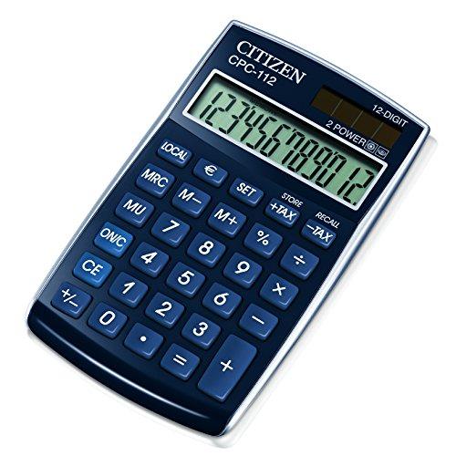 Citizen CPC112BLWB Taschenrechner, blau