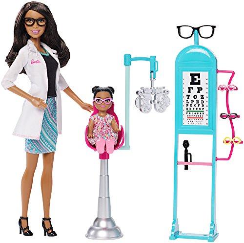 Barbie CKJ73 Careers Eye Doctor African-American Doll and Playset