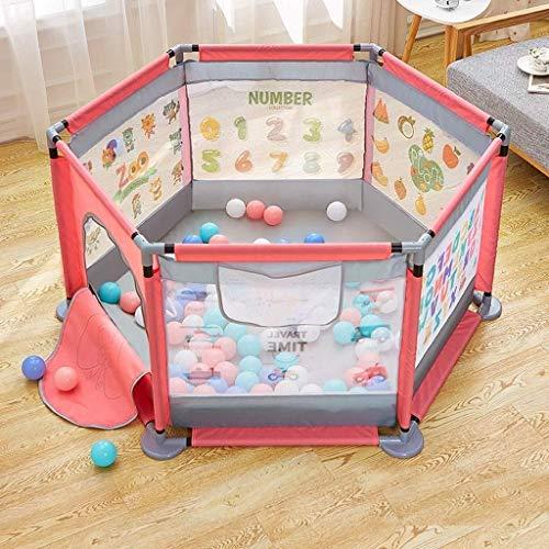 Hyzb Barrière de Jeu pour Enfants Intérieur Maison Bébé Barrière incassable Barrière pour Bambin Sécurité Tapis de Protection pour bébé (Color : Pink)
