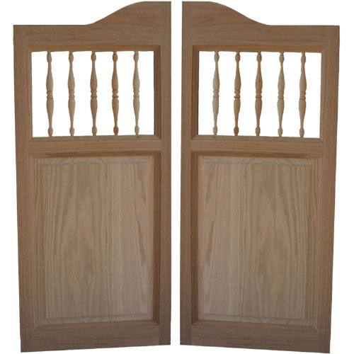 Custom Made Solid Oak Western Swinging Cafe Doors/Saloon Doors with Hardware Fits Any 42
