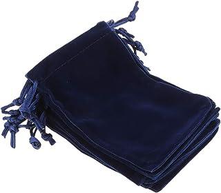 Fenteer 10pcs Pochettes de Bijoux Cordons Petits Sacs de Faveur Cadeau Mari/ée Etui Velours Noir 10x15cm