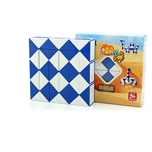 Magia de la Serpiente torcedura del Cubo Rompecabezas (Azul, 36)