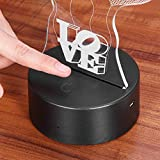 LEDMOMO 3D Lampe Nachtlicht Stimmungslicht Tischlampen Deko Herzen - 2