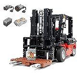 Uno Y Diez 2.4G RC Technic Potencia Del Motor Carretilla Elevadora Kit Modelo,Tenedor Ascensor Modelo De Camiones De Construcción Bloques,Ladrillos Grúa Móvil De Vehículos Kit Compatible Con Lego