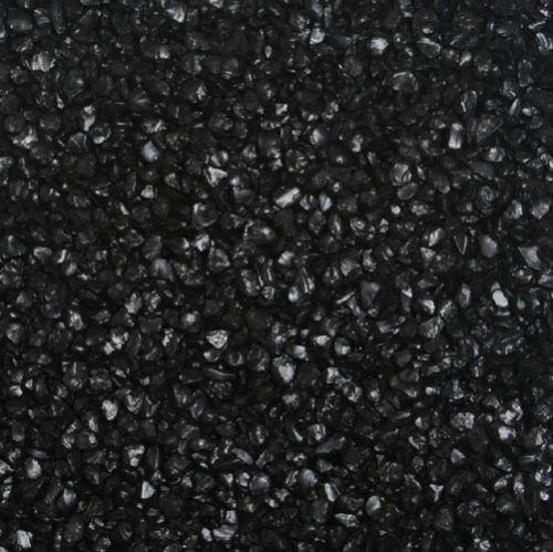 Glas-Nuggets / Glasgranulat (2-4 mm), 1 kg, schwarz