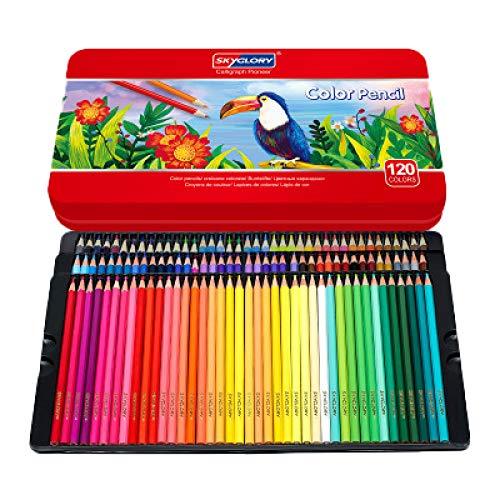 TAIGE Lápiz de dibujo para dibujo de boceto, 120 colores, acuarela 120 colores Ver la imagen detallada
