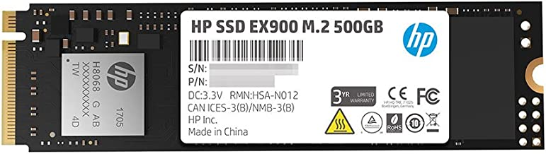 HP EX900 M.2 500GB PCIe 3.0 X4 Nvme 3D TLC NAND Internal Solid State Drive (SSD) - 2Yy44Aa#ABC