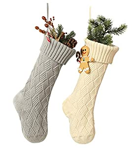 Material: 100%acrylic fiber Color: Classic solid color series Product Size: 18 inch tall, from top to bottom, 5.9 inch wide Each Christmas Stocking has a sturdy hanging loop Occasion : Perfect for hanging by the chimney with care,decorating Christmas...